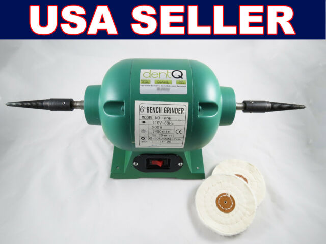 Dental Laboratory Lab Jewel Polisher Bench Grinder Buffer Motor 003-2 dentQ 220V