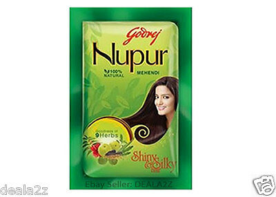 BUY 3 GET 1 FREE small 30g Godrej NUPUR HENNA  Natural Henna Color Hair DYE