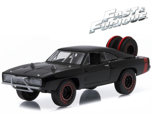 1//43 Greenlight Fast /& Furious 7 Dom/'s 1970 Dodge Charger R//T Offroad 86232 BK