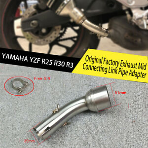 Original Factory Exhaust Mid Connecting Adapter Elbow For YAMAHA YZF R25 R30 R3