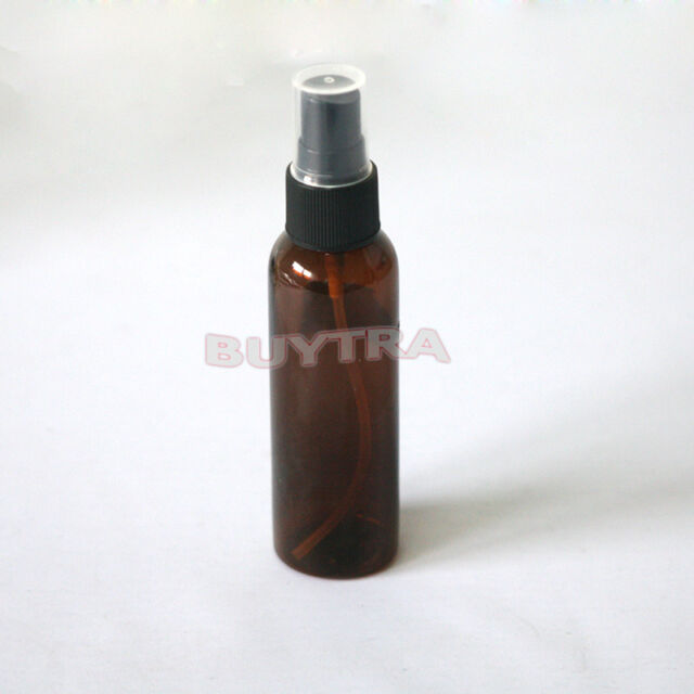 Plastic Brown 60ml Amber Bach Perfume Remedy Mixer Bottle With Atomiser Spray EF