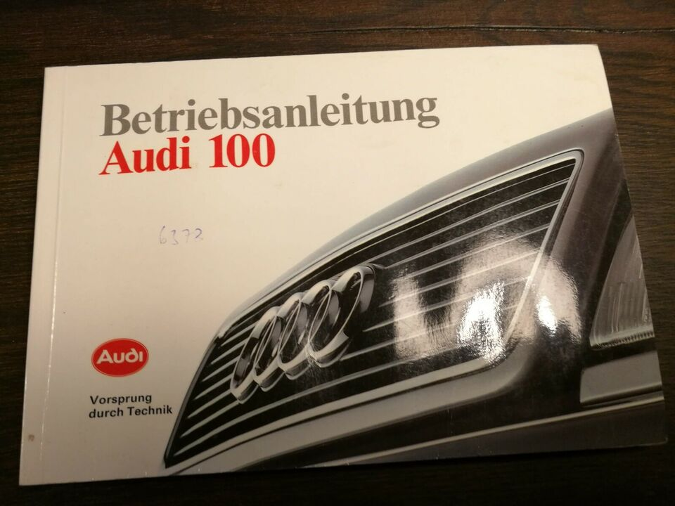 Audi 100, instruktionsbog