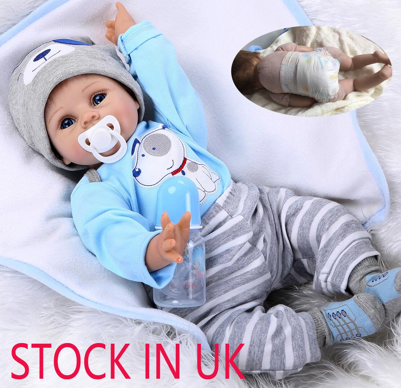 Realistici Baby Boy 22  morbido silicone simulazione RINATO Baby Dolls formazione sostegni