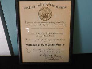 WWII-USNR-Certificate-Of-Satisfactory-Service-Commander-Reuel-Vance-Robinson-48