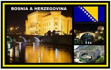 BOSNIA & HERZEGOVINA - SOUVENIR FRIDGE MAGNET - BRAND NEW - GIFT