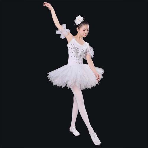 Ballet Clothes Adult Ballet Costumes White Swan Feather White Ballet Tutu Skirts