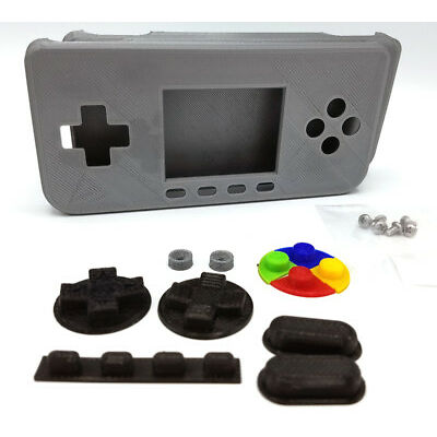 PiGRRL Zero SLVER Game Boy Case Buttons Screws Washers Gameboy Raspberry Pi Zero
