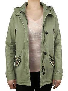 Blonde-No-8-SYLT-PEARL-Parka-7100-frozen-green-Jacke-Women-olive-NEU