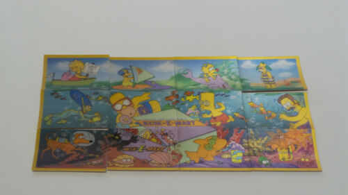 THE SIMPSONS SET OF 12 HOLOGRAM CARDSMADE IN 1998 MLFP