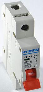 Sicherungsautomat 1 polig B 63A 6kA Leitungsschutzschalter LS-Schalter MCB 0111