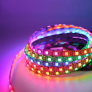 WS2812B-ws2811-RGB-5050-LED-Strip-Light-60LED-M-Waterproof-Addressable-5V-12V-DC