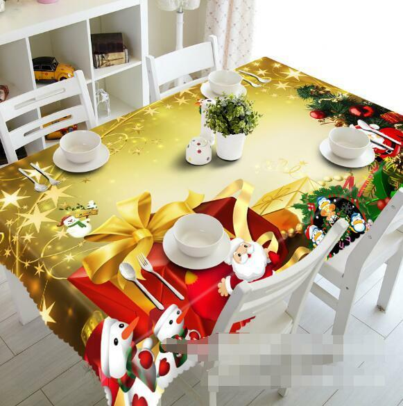 3D Present 73 Tablecloth Table Cover Cloth Birthday Party Event AJ WALLPAPER UK