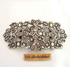 Gürtelschnalle mit Maskaronen 800 er Silber Art Nouveau um 1900 / AS 111