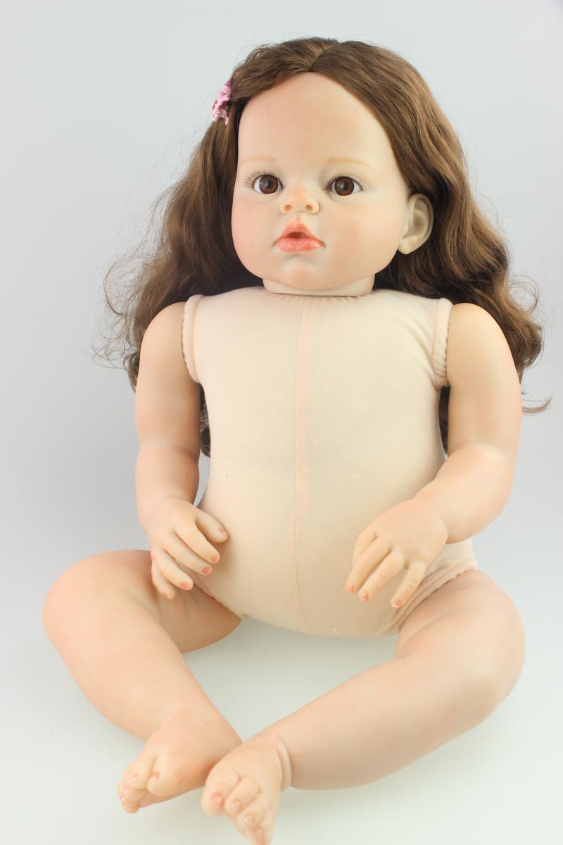 28  pelo arraigado Desnuda Muñeca renacida BEBÉ NIÑO NIÑA vivo Silicona Niño Bebe