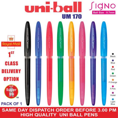 8 Diff Col UM-170 Pack 1-2-4-8 Uni-Ball UM170 Signo Gel Stick 0.7mm Stift