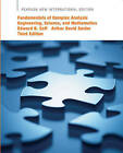 Fundamentals of Complex Analysis with Applications to Engineering, Science, and Mathematics by Edward B. Saff, Arthur David Snider (Paperback, 2013)