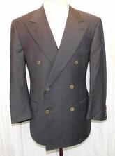 DUNHILL Charcoal Gray DB Peaked Lapel 2-Vent Blazer Sport Coat 40 S ITALY