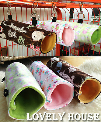 Hammock for Rats, Mice, Chinchilla, Hamster Hanging Bed Fun Tunnel Toy House