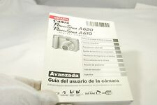 Canon PowerShot A620 A610 Digital Camera Guia del Usuario la Manual (ES) Espanol