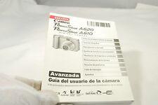 Canon PowerShot A620 A610 Digital Camera Guia del Usuario la Manual (ES) Espanol