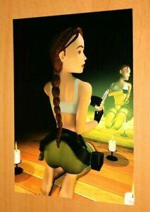 Lara Croft Tomb Raider 2 3 4 Ps1 Old Rare Promo Vintage Poster Ad