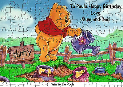 Winnie the Pooh persoanlised 120  piece Jigsaw Puzzle NEW free pp