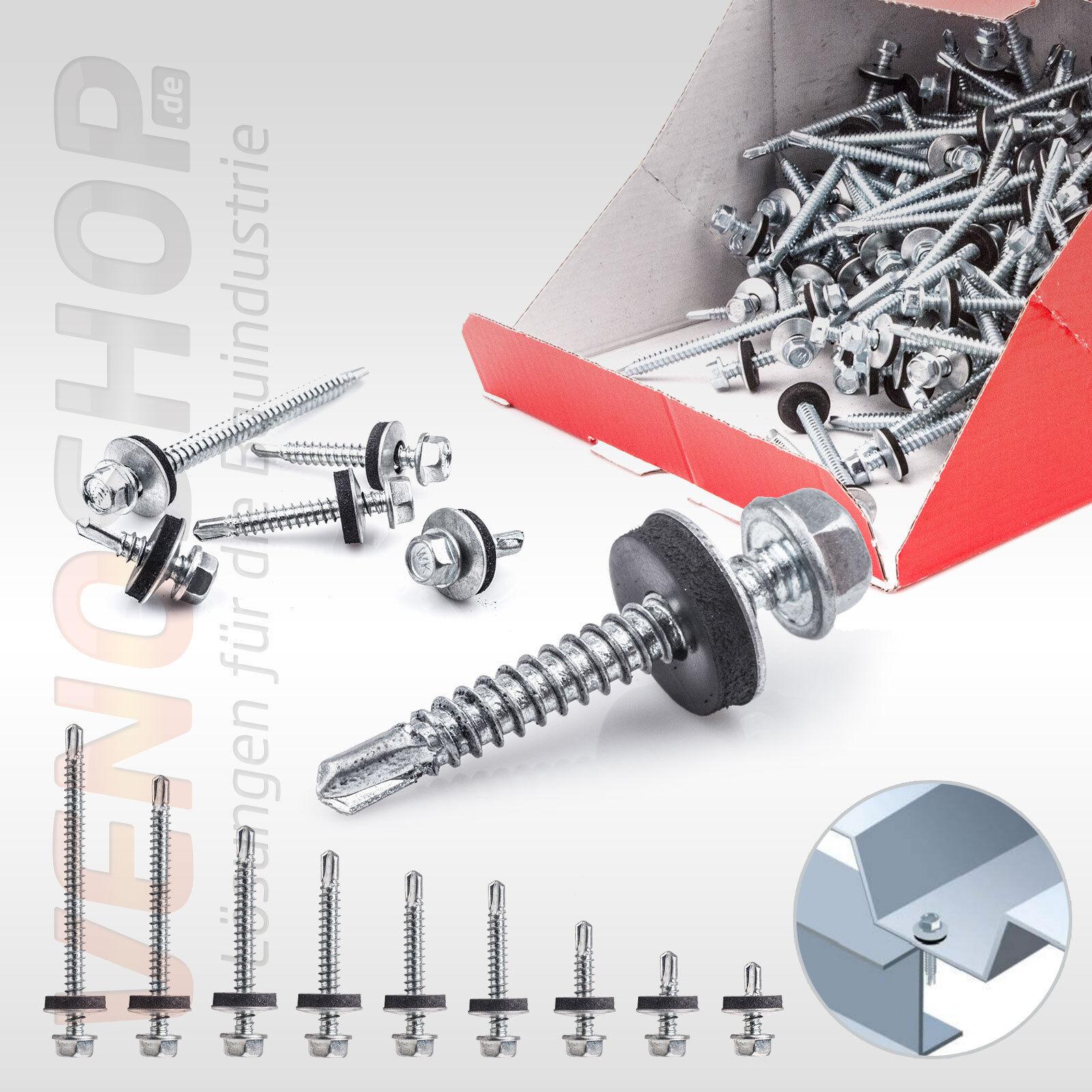 5,5x19mm - Trapezblech Schrauben Bohrschrauben Stahl auf Stahl für Trapezblech