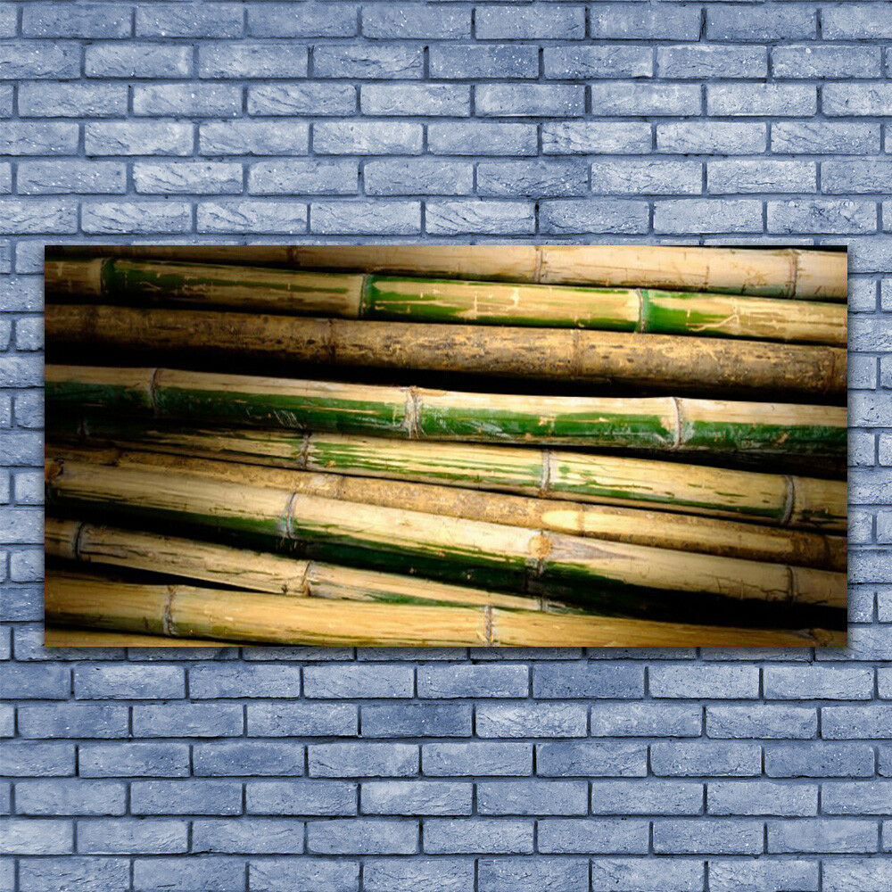 Glass print print print Wall art 140x70 Image Picture Bamboo Floral 7d2803