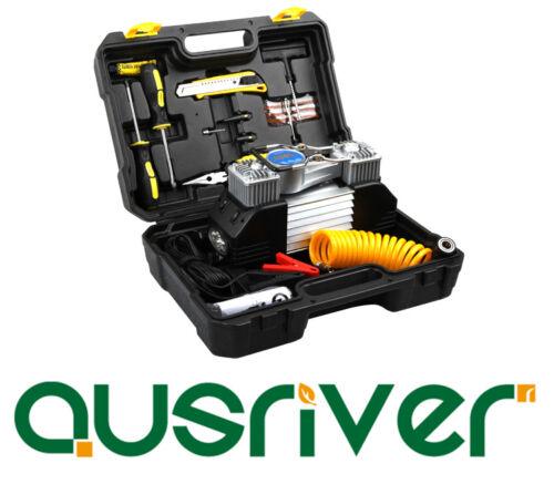 Unit Portable Car Air Compressor 50L/min 150PSI Preset Tire Pressure TOOL KIT
