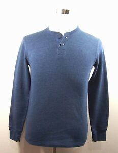 14b0fd3a Faded Glory Mens Henley Shirt Casual Long Sleeve Blue Size S | eBay