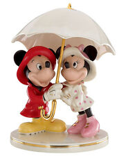 Lenox Disney Mickey & Minnie Mouse Singing in the Rain Figurine New
