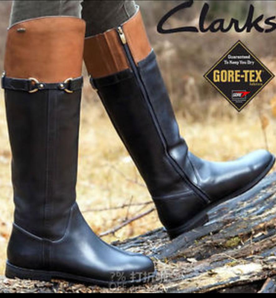 CLARKS CLARKS CLARKS MINT AQUA BLACK TAN COMBO GORETEX LEATHER WINTER BOOTS SIZE 5.5 D 0d3502