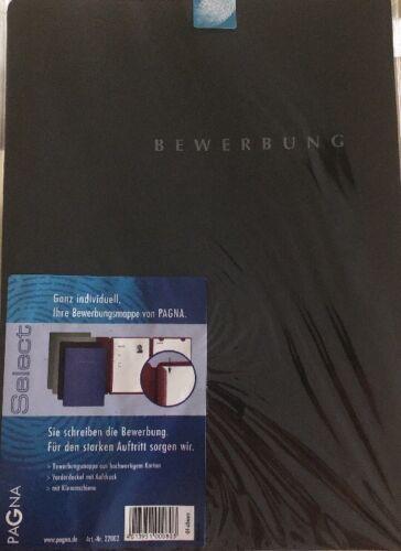 Bewerbungsmappe Select A4 schwarz PAGNA 22002 mit Klemmschiene 3tlg aufklappbar