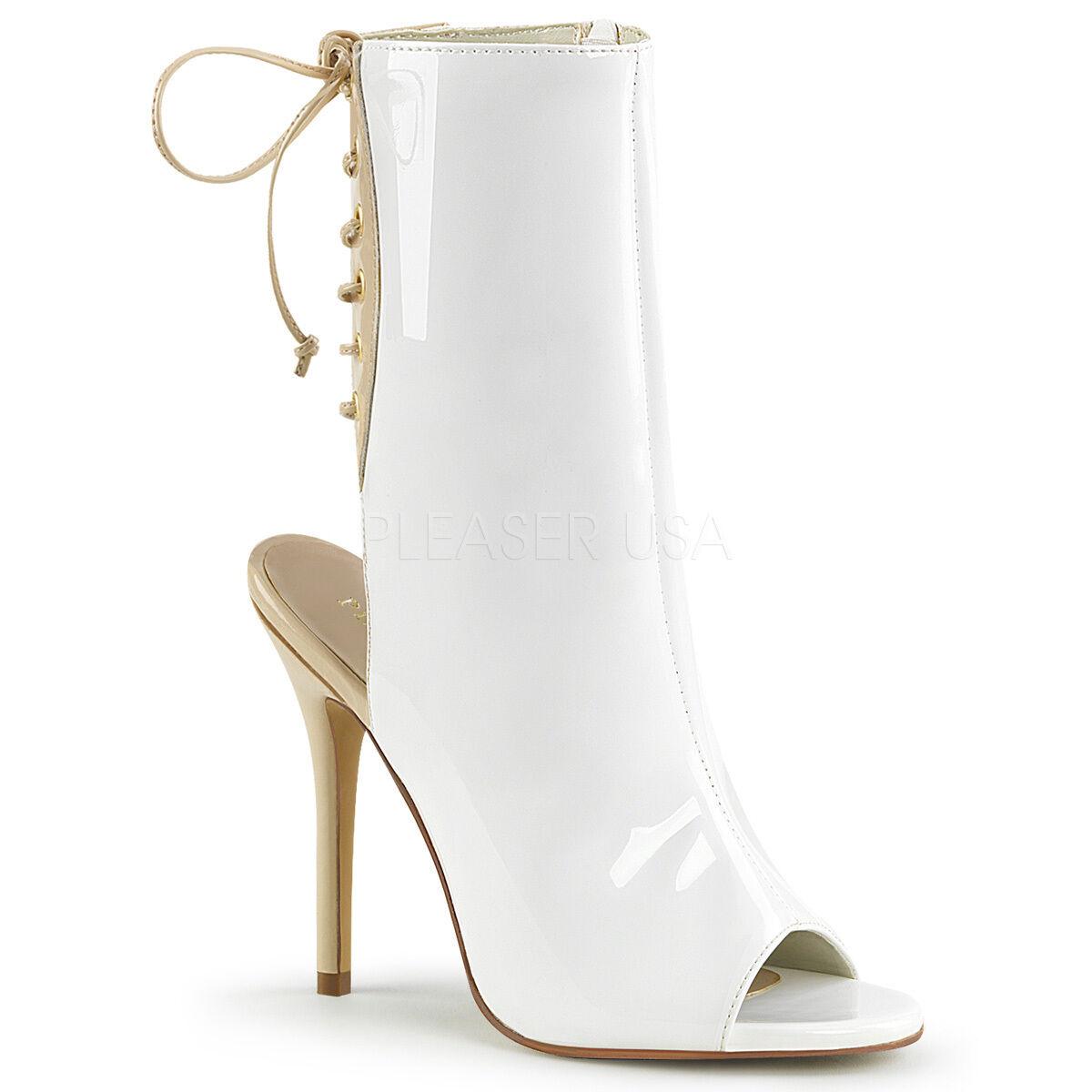 Pleaser Größe AMUSE-1018 Open Toe Ankle Stiefel Größe Pleaser 5-14 7c80be