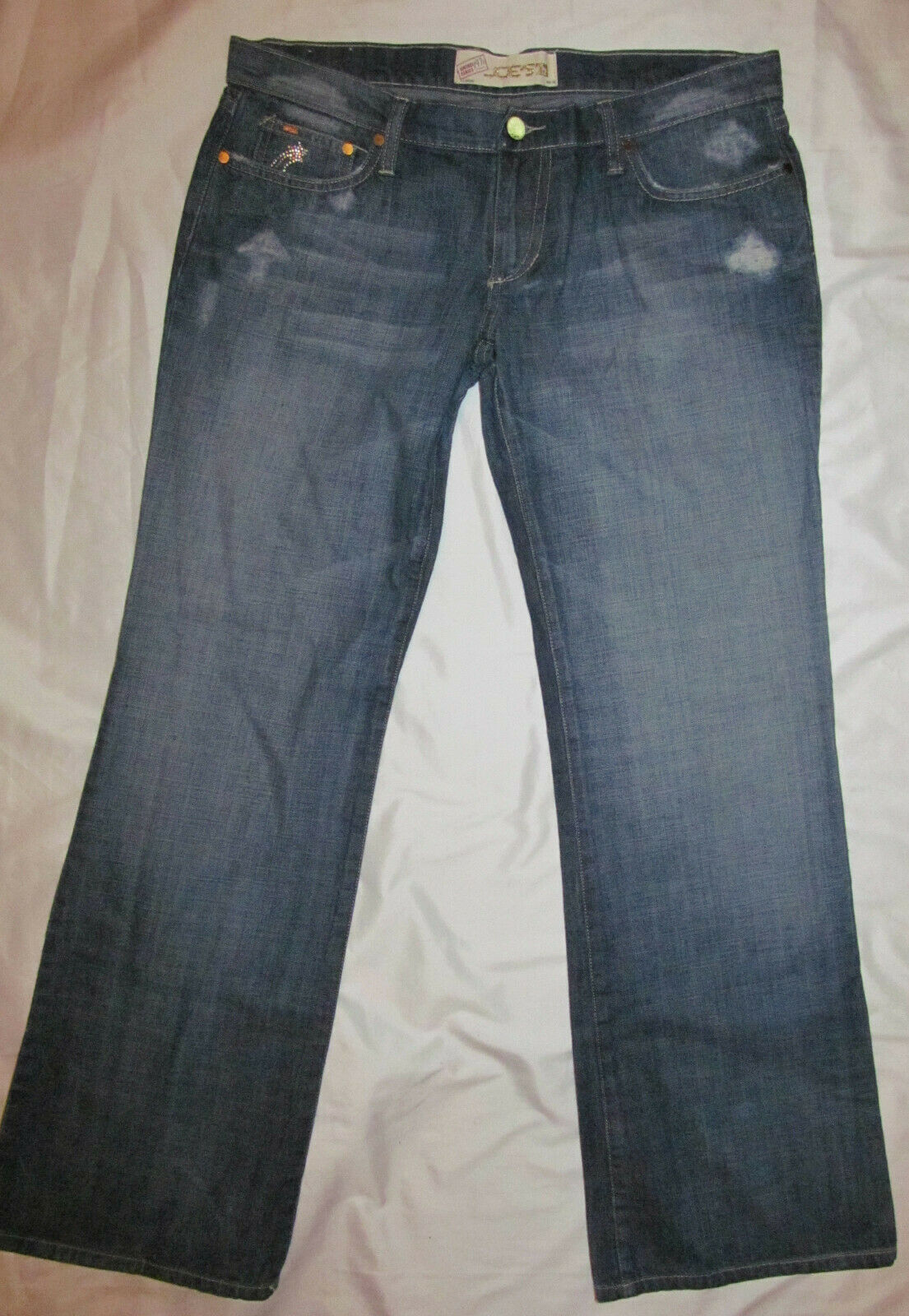 JOE'S  SOCIALITE VINTAGE SERIES 1971 HEART rhinestone star stars jeans 31 NWT