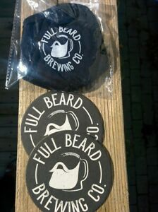 Black-Unisex-FACE-MASK-Washable-Reusable-FULL-BEARD-BREWING-Canada-Beer-Coaster