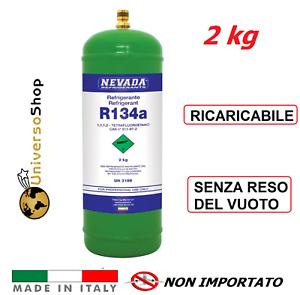 R134A BOMBOLA DA 2KG CLIMATIZZATORE CONDIZIONATORE RICARICABILE GAS R134A