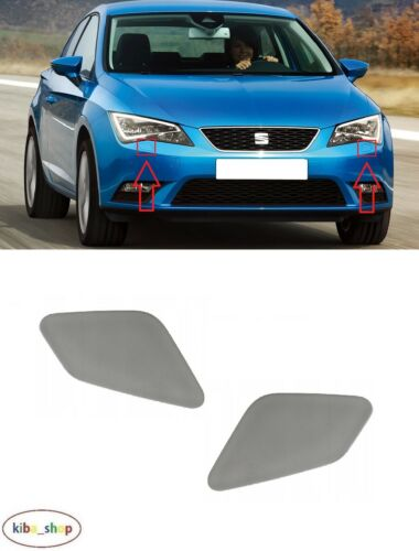 R FOR SEAT LEON 5F 2012-2019 FRONT BUMPER HEADLAMP WASHER COVERS PAIR L