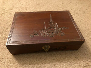 1950/'s Made in Japan Vintage Wood Musical jewelry Box