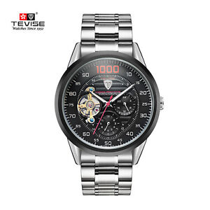 4b155bd482d Image is loading Tevise-Men-Watch-Mechanical-Watch-Automatic-Winding- Tourbillon-