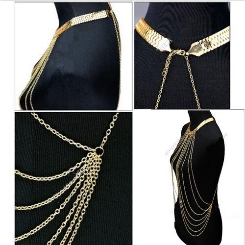 Attractive Women's Hot Waist Bikini Gold Tassel Body Chain Necklace Hot Sale