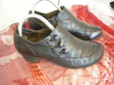 Gabor Damen Schuh Gr. 38,5 - schwarz, Leder, herbsttauglich