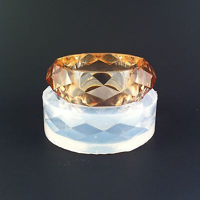 ALAMOULD CLEAR SILICONE MOLD, (MB082) CRYSTAL SHAPE BANGLE BRACELET