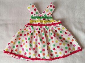 a8e68060bce57 Robe bretelles à pois colorés bébé fille été 6 MOIS ORCHESTRA