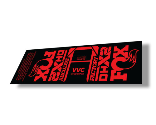 FOX Float DHX2 2021 Rear Shock Suspension Sticker Factory Decal Adhesive Red