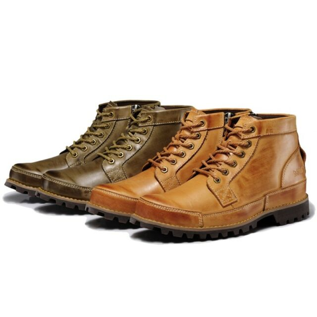Latest Men's Work Boots Fine Quality Stitching Ankle Boot High Top Lace Up Shoes