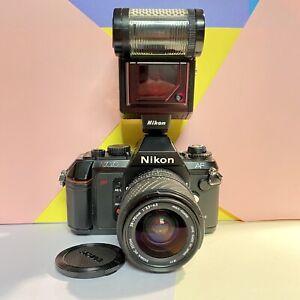 Nikon-N2020-F501-AF-NR-ottime-condizioni-con-Sigma-Lens-amp-Sb-20-FLASH-LOMO-studente