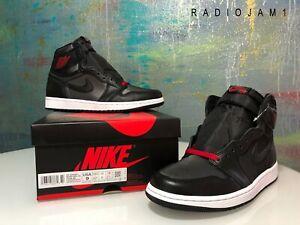 Nike Air Jordan 1 Retro High Og Brand New Black Satin Gym Red Size