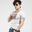 Fashion-Men-039-s-Shirt-Slim-Fit-Short-Sleeve-Muscle-Basic-Tee-Casual-Tops-T-Shirts miniatura 9