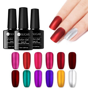 UR-SUGAR-7-5ml-Mirror-Titanium-Soak-Off-UV-Gel-Polish-Red-Purple-Nail-Art-Gel